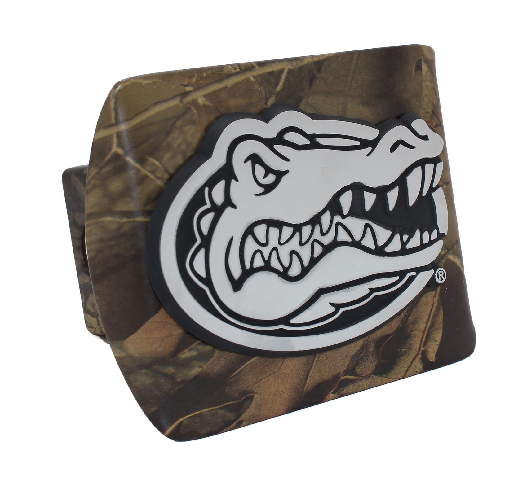 Florida Gator Head Camo Metal Hitch Cover | Car Emblems | Auto