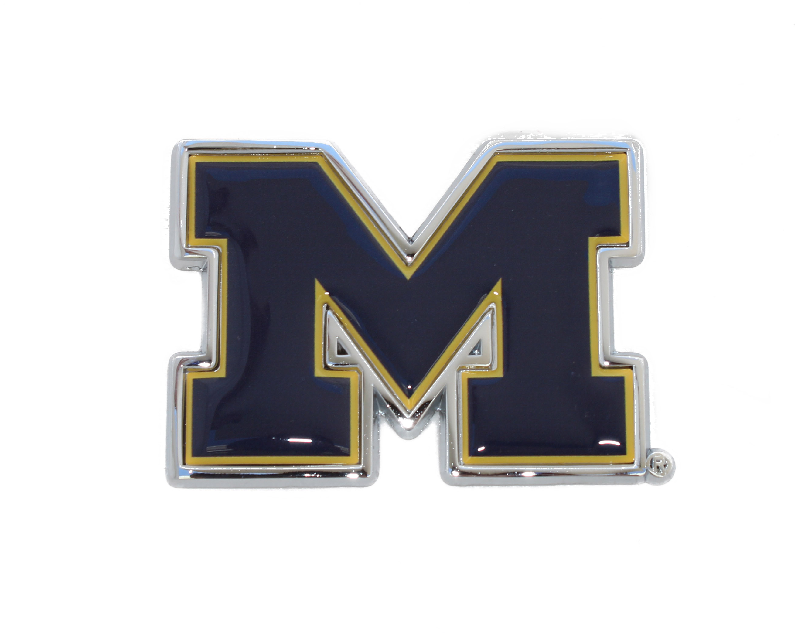 Michigan Wolverines Blue Metal Auto Emblem Car Emblems