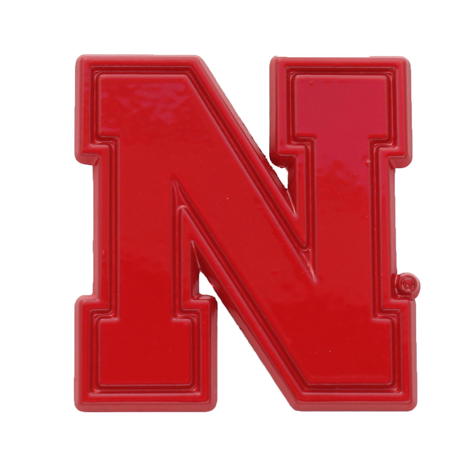 Nebraska Red Metal Auto Emblem Car Emblems Auto Emblems Tow