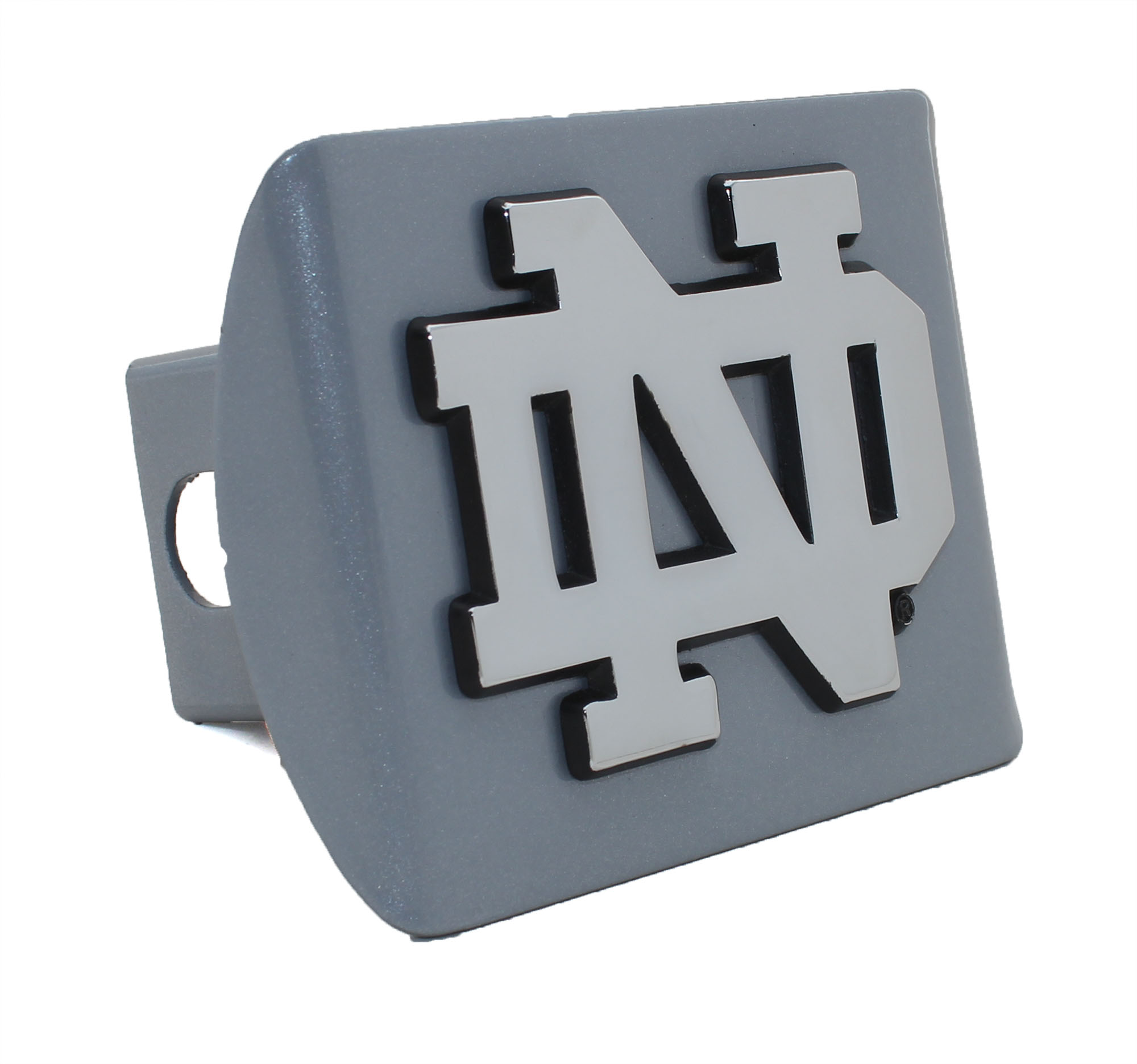 Notre Dame ND Silver Metal Hitch Cover