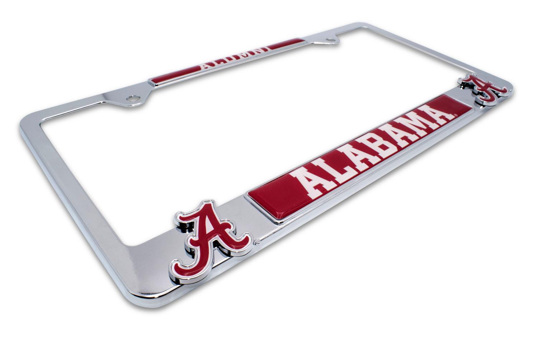 Alabama Metal License Plate Frame | Car Emblems | Auto Emblems | Tow ...